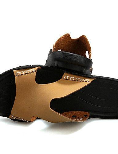 Negro Brown Única Libre marrón Aire us10 Piel atlético Pantuflas casual Al Cn44 Uk9 us10 De Black Talla Eu43 Hombre Ntx Cn44 Zapatos hombres PxFFvn