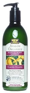 Avalon Organics Hand & Body Lotion, Ylang Ylang, 12 Ounce