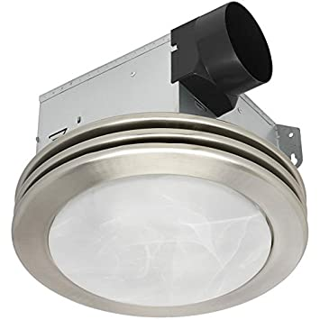 Utilitech 2-Sone 80-CFM Brushed Nickel Bathroom Fan
