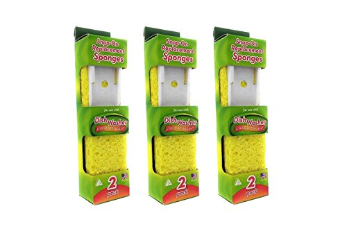 Price comparison product image Arrow Plastic Dishwasher Replacement Sponge 00008 (Pack of 3)