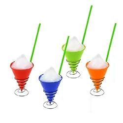 Ninja Brand Snow Cone and Ices Maker Kit + 200 Spoon Straws