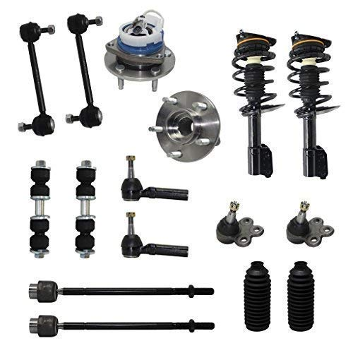 Detroit Axle - New Complete 16-Piece Front Suspension Kit - 10-Year Warranty- Front: 2 Strut Assemblies, 2 Wheel Bearings, 2 Lower Ball Joints, 4 Tie Rod Ends, 4 Sway Bar Links, 2 Tie Rod Boots...
