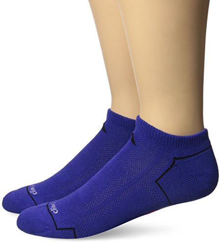 adidas Men's Climacool II No Show Socks (Pack of 2), Night Flash Purple/Black/Solar Red, One Size