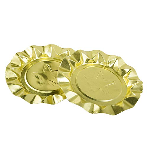 Royal Gold Star Aluminum Ashtrays, Package of 100