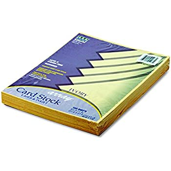 Pacon Card Stock, 8 1/2 inches by 11 inches, Ivory, 100 Sheets (101186)