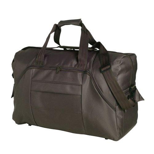 Große micrfibre Reisetasche in braun–Gepäck, über Nacht Tasche
