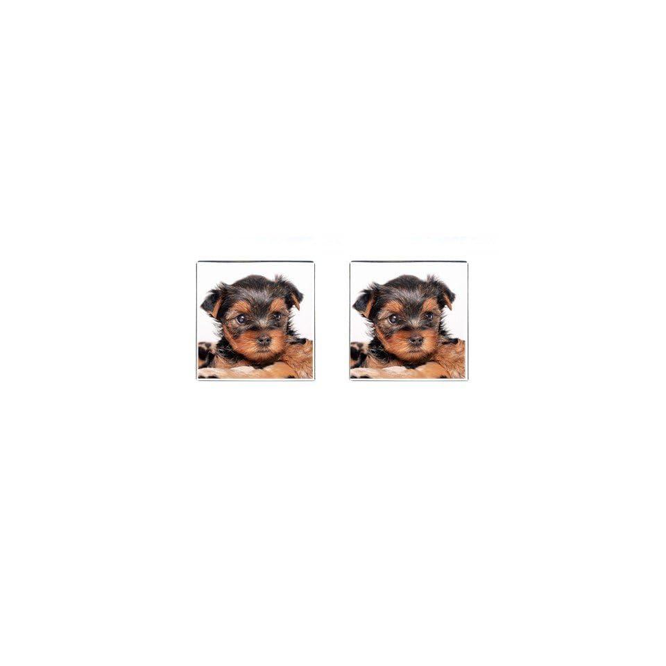 Yorkshire Terrier Puppy Dog 8 Square Cufflinks F0655