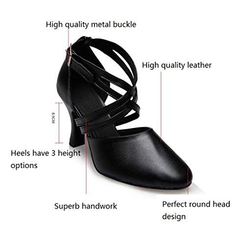 Pour Hauts Chaussures Cuir Chaussures Talons Semelles à Souples En Chaussures à Moderne Adulte De Respirant Black8cm MUYII Chaussures Danse Femmes Sport De 8Pxaxfq5