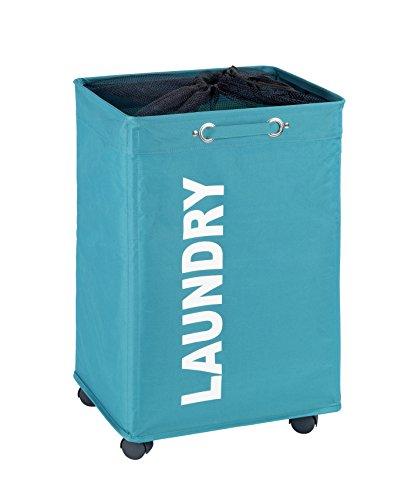 Wenko 3450118100 Quadro Laundry Bin Quadro Petrol Capacity 79 L