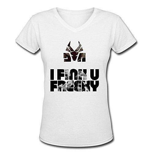 KEIKO-Womens-Die-Antwoord-Yo-Landi-T-shirts-V-Neck