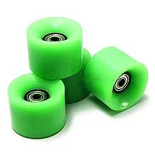 Skateboard Wheels - SODIAL(R) Set Of 4 Skateboard Wheels 6cm Diameter and 4.5cm Width For Penny green