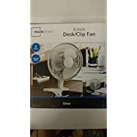 Mainstays 6-Inch Desk/Clip Electric Fan - Silver