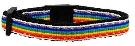 Rainbow Striped Nylon Collars Rainbow Stripes Cat Safety (24 Pack) [Misc.]