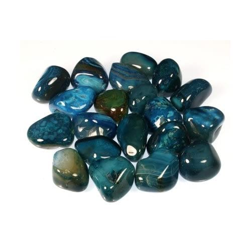 Turquoise Agate Tumble Stone (20-25mm) - Single Stone