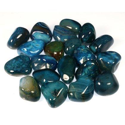 Turquoise Agate Tumble Stone (20-25mm) - Single Stone CrystalAge