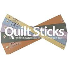 Quiltsticks 7/8ths Kit - Quilt Stick Sticks Quiltstick Rotary Cut Fabric Safe Efficient 4 Templates Ruler Guide