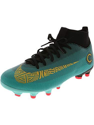 emy Gs Cr7 Clear Jade/Metallic Vivid Gold Ankle-High Soccer Shoe - 4M ()
