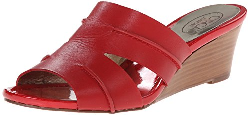 Circa Joan David Sandals (Circa Joan & David Women's Shanna Wedge Sandal, Red, 5 M US)