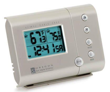 - Oregon Scientific RAR601 Wireless Indoor/Outdoor Thermometer and Self-Setting Clock