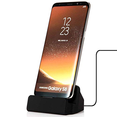 HD Accessory Desktop Charge and Sync Dock Stand for Smartphone with Type-C (USB-C) Connector - Black