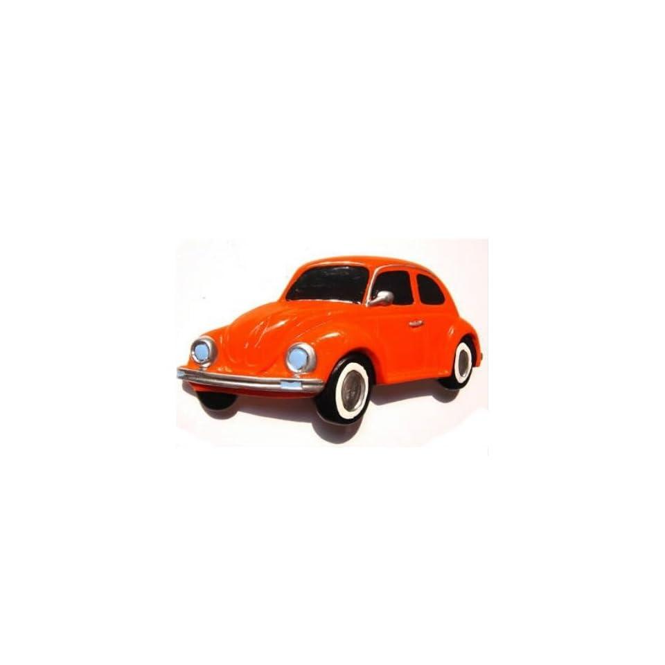 Volkswagen Beetle (Ger) Orange 1985 Pink Thailand Souvenir 3D High Quality Resin 3D fridge Refrigerator Thai Magnet Hand Made Craft