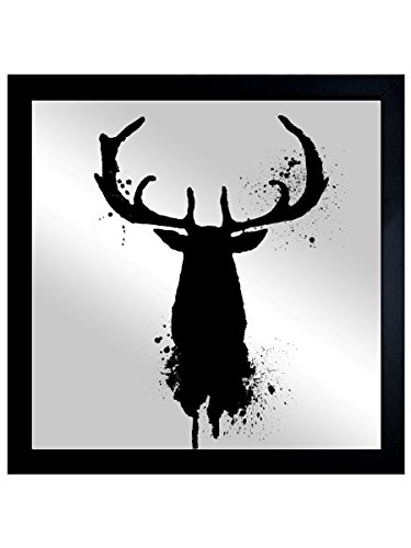 The Oliver Gal Artist Co. Stag Majesty Gold | Framed Mirror Print for Wall Art Decor. the Animals Collection by Oliver Gal Décor Home, 20