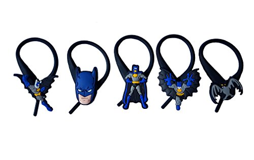 Poison Ivy Comic Book Character Costumes (AVIRGO 5 pcs Soft Zipper Pull Charms for Jacket Backpack Bag Pendant Set # 120 - 3)