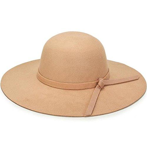 khaki Señoras el invierno de peludas Hat moda y otoño sombrero Bow ZHAS Hat el Domo techado CcZfq