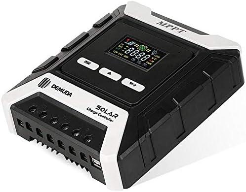 QUUY 50A MPPT Solar Ladegerät Controller 12V / 24V / 48V Auto Solarladeregler Solarpanel Regler Mit Zwei USB Port Und LCD Anzeigen - Mehrfachschutz