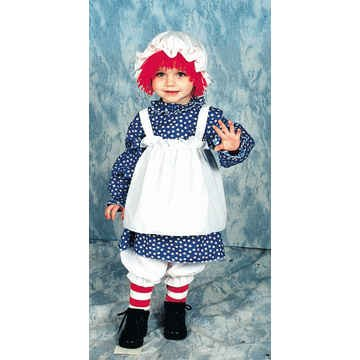 Raggedy Ann Costume - Child Costume 4-6 (Toddler Raggedy Ann Costume)
