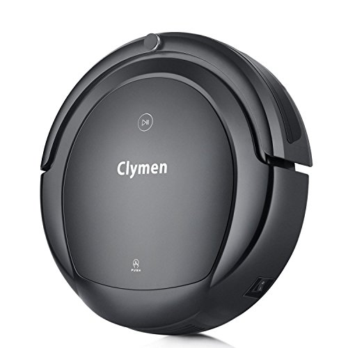 Clymen with Voice Control, Robotic Vacuum Cleaner for Pets with 2D Navigation, Connects to WiFi and Work with Alexa App, UV Light for Disinfection, Powerful Suction, Black ()