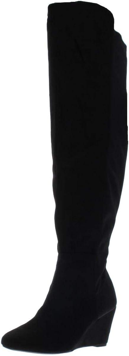 ZIGIny Womens Heide Closed Toe Knee High Fashion Boots Black