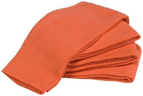 Towels by Doctor Joe Orange 16″ x 25″ New Surgical Huck Towel, Pack of 12