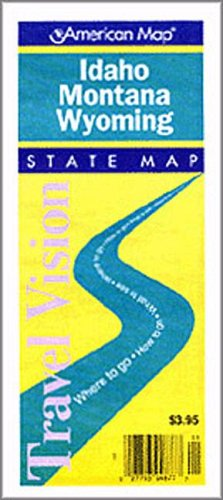 road map of idaho and wyoming Idaho Montana Wyoming Road Map Travelvision State Maps road map of idaho and wyoming