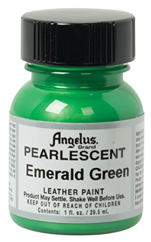 Angelus Pearlescent Leather Paint, Emerald Green, 1 oz. ()