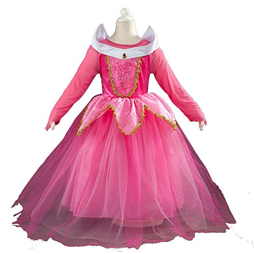 Kids CDress up Halloween Costumess Tulle Party Dress,Pink,6T]()