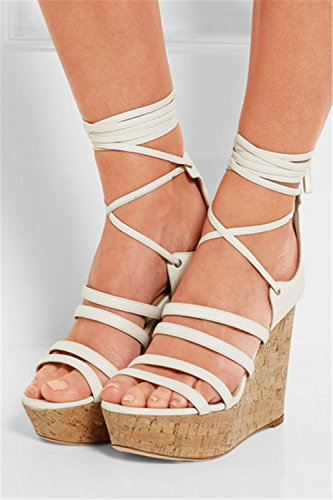 Sommer 42 Damen Keil Abschlussball Party Schuhe Peep Sandalen Riemen Größe Toe Abend Plattform 35 Knöchel Römisch wEZp4qZ