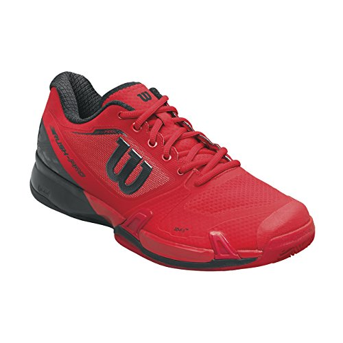 Wilson Wrs322640e105, Chaussures de Tennis Homme, Rouge (Wilson Red / Black / Barbados Cherry), 45 1/3 EU