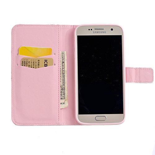 Case 7 Wallet Samsung S7 Samsung Cierre Funda S7 de Cover Incorporado V Funda Funcin Soporte Billetera Galaxy Flip Caso con Galaxy para PU Lyzwn Magntico Carcasa Cuero pxngFvdxW