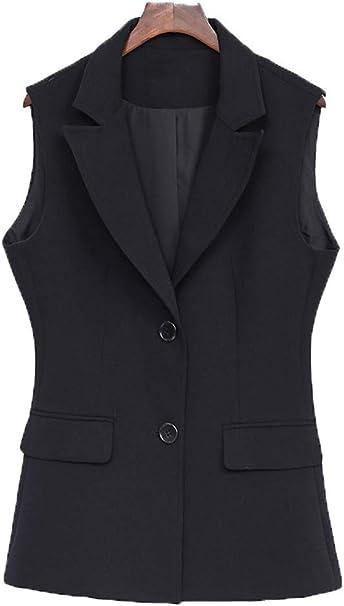 Cystyle Damen übergröße Weste Anzug Weste Modern Kellnerweste Slim Fit Für Große Größen Amazon De Bekleidung