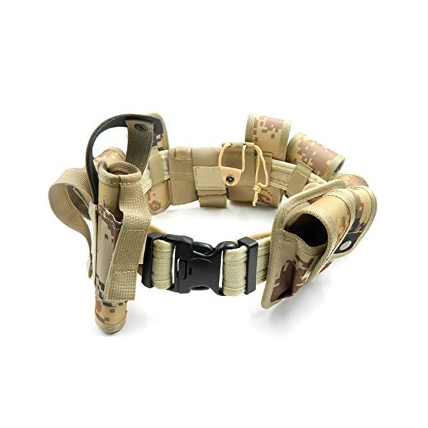 Lixada Cinturón Táctico de Ajustable Nylon Militar Utilidad Correa Kit Guardia de la Policía de Seguridad Formación 6