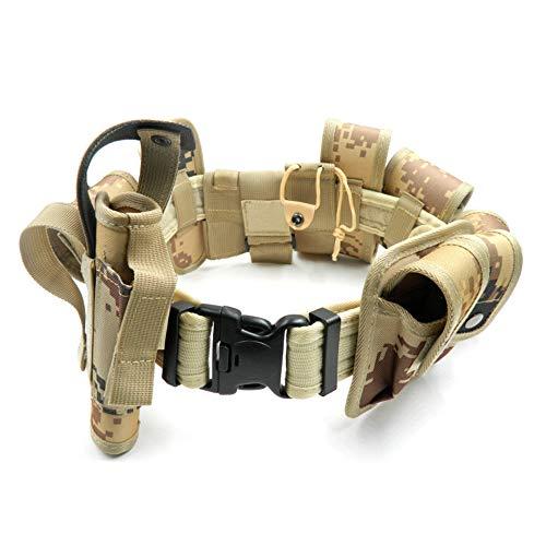 Lixada Cinturón Táctico de Ajustable Nylon Militar Utilidad Correa Kit Guardia de la Policía de Seguridad Formación 5