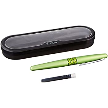 Pilot MR Retro Pop Collection Fountain Pen, Green Barrel with Marble Accent, Fine Nib, Black Ink (91431)