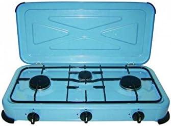 Fogón - placa cocina 3 fuegos Midland camping: Amazon.es ...