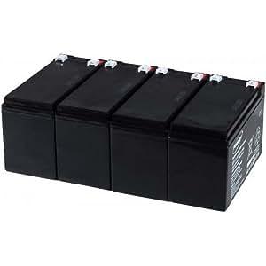 Batería de plomo-gel para Powery USV APC Smart-UPS SUA1500RMI2U, 12, v Lead Acid-Batería de plomo de []