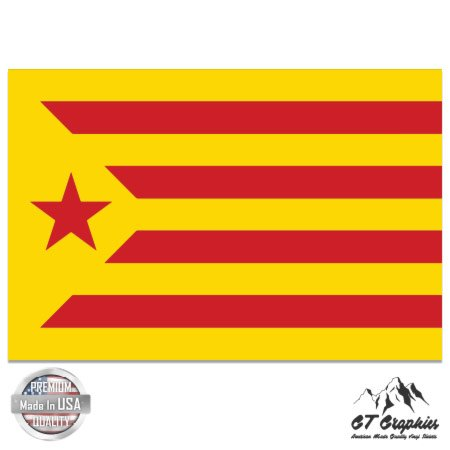 Barcelona Car Flag - Estalada Roja Catalan Flag - 5