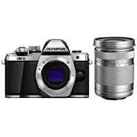 Olympus OM-D E-M10 Mark II Mirrorless Camera Body, Silver - With Olympus M.Zuiko Digital ED 40mm-150mm f/4-5.6 R Lens, Silver,
