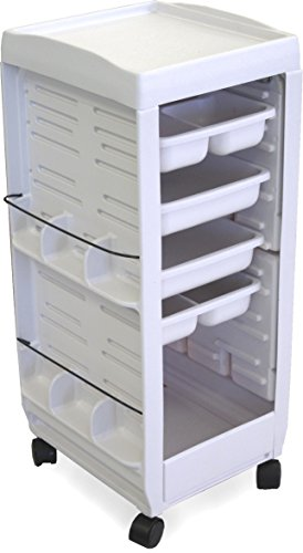 C113E Medical, Physician, Roll-About Roller Cart Trolley Non Lockable White by Dina Meeri