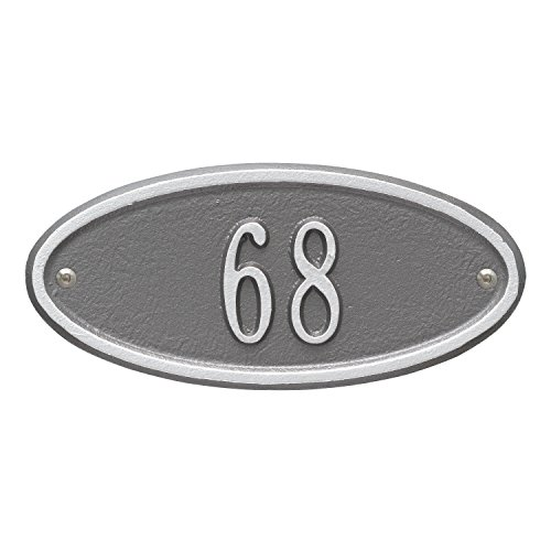 - Madison Petite Wall Address Plaque Color: Pewter/Silver Letters