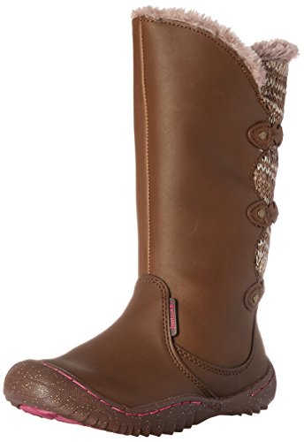 JambuKD Azami Girl's Outdoor Fashion Boot,Brown,4 M US Big Kid